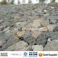 3.0 mm Galvanized Gabion Basket for River Bank Project