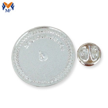 Renewable Design for Button Badge Blank metal button pin badge with safety pin supply to Fiji Suppliers