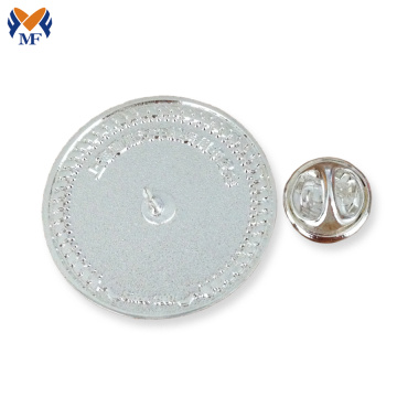Blank metal button pin badge with safety pin