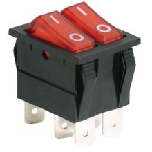 Customized for Middle Rocker Switches Rocker Switch 2 POLE supply to Dominican Republic Supplier