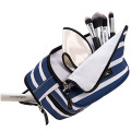 Newest Stripe Multi Compartments Toiletry Cosmetic Bags