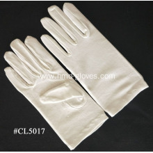 Women`s White Stretchy Cotton Gloves