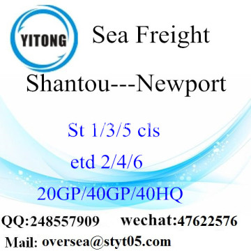 Shantou Port Sea Freight Shipping To Newport