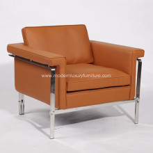 Premium Leather Single Sofa Replica