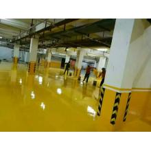 Yellow parking lot self-leveling epoxy floor