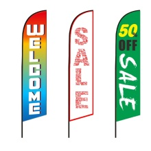 Outdoor Advertising Event Beach Feather Flying Banner Flag