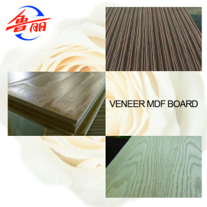 Veneered MDF board for closets and kitchens