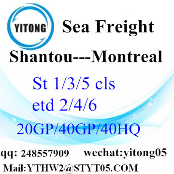 Shantou Shipping Forwarder to Montreal