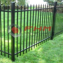 High Quality for Black Picket Fencing Black PVC Coated Metal Commercial Picket Fence supply to France Supplier