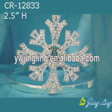 Customized for Snowflake Round Crowns Christmas Snowflake Pageant Crowns supply to Slovenia Factory