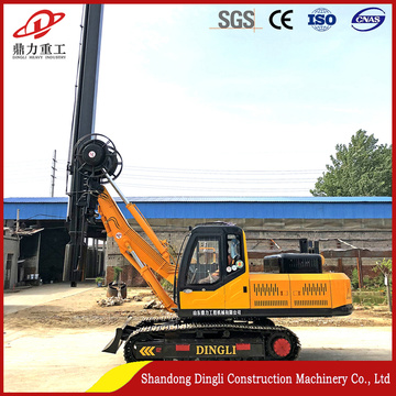 House foundation square pole pile machine