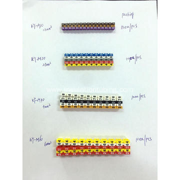 ROHS M Type Cable Marker with Different Marking