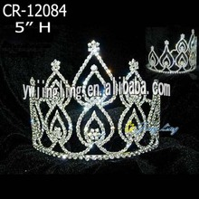Rhinestone Cheap Pageant Crown For Adult