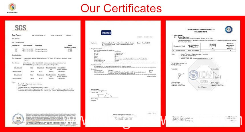 certigicates