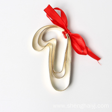 Christmas stick golden plating Christmas cookie cutter set