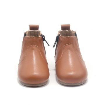 Wholesale Children Shoes Genuine Leather Velcro Baby Boots