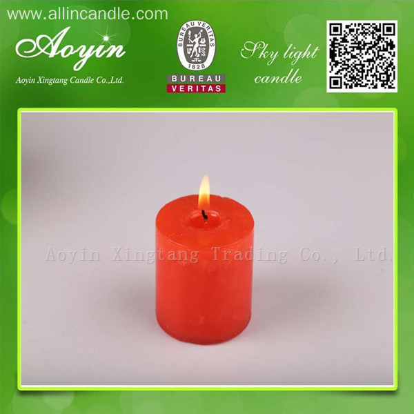 5*5 Multi-Colored Smokeless Pillar Candle with Fragrance