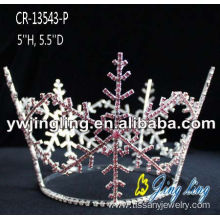 Full Round Frozen Snowflake Christmas Pageant Crowns