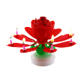Rainbow Colorful Lotus Music Candle Birthday Party candle