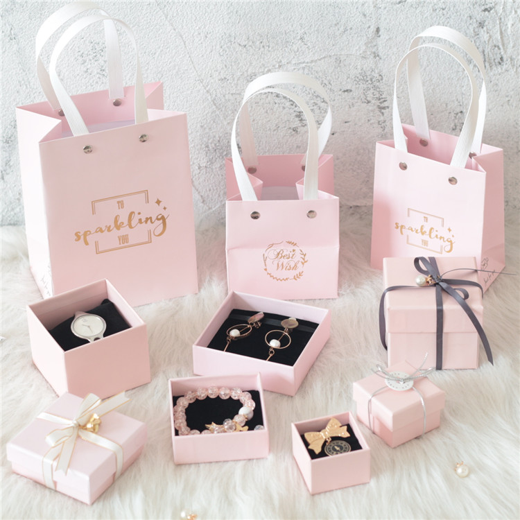 Pink best jewelry packaging paper box