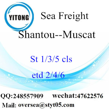 Shantou Port LCL Consolidation To Muscat