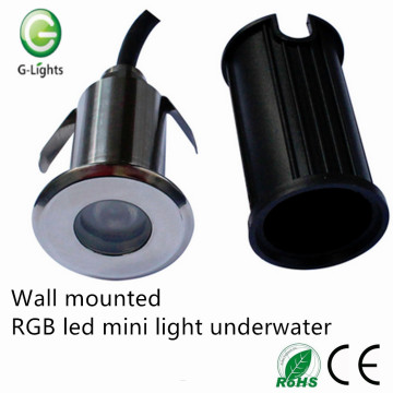 Wall mounted RGB led mini light underwater