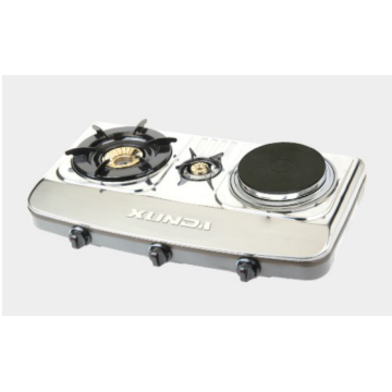 Stainless Steel Table Gas Stove with Hotplate