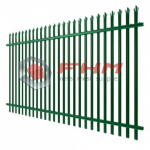Green Metal Palisade Fence for Industrial Usage