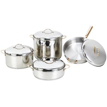 Basic Stainless Steel Cookware Set 8 pieces