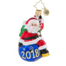 Manufacturer of for Glass Santa Ornaments 2019 Personalised Christmas Santa Claus Glass Ornaments supply to Uzbekistan Factory