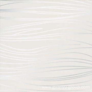 Line Decoration Matt Finished White Porcelain Tile