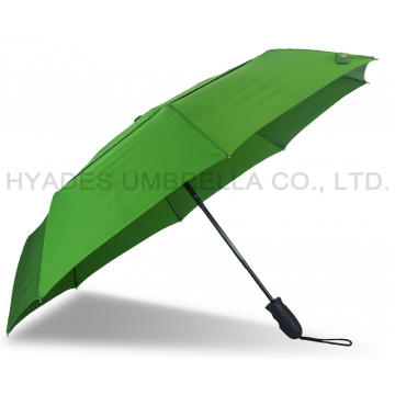 Double Layered Windproof Auto Open and Close Folding Umbrella