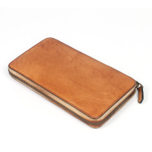 Long Wallet with Zipper Pocket for Men