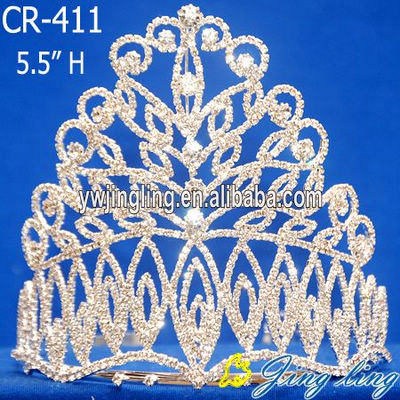 special design clear rhinestone crown pageant tiara