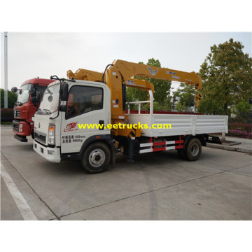 HOWO 3ton Lattice Boom Truck mounted Cranes