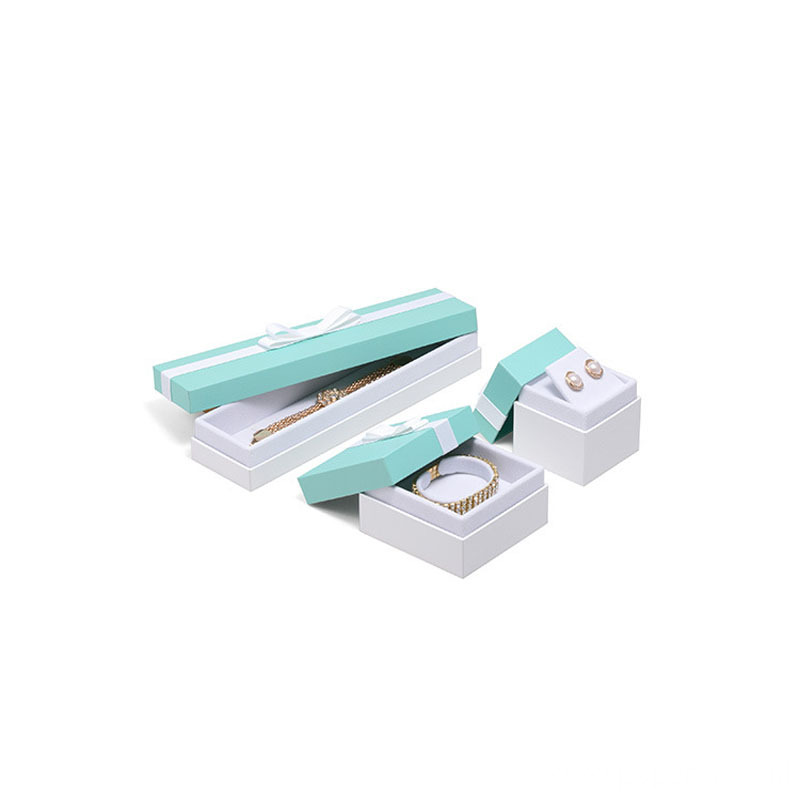 Christmas Delicate Light blue Jewelry Packaging Box