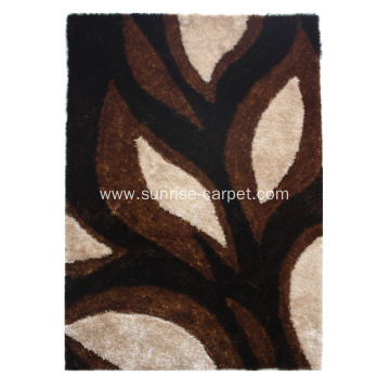 Polyester Thick Yarn Shaggy With Design