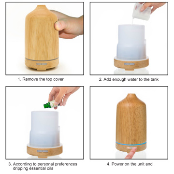 Wood Ultrasonic Aromatherapy Essential Oil Diffuser