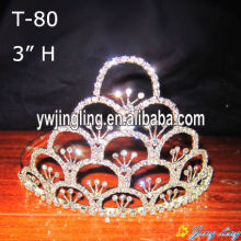 "3"" Wholesale pink crystal tiaras"