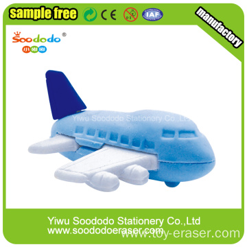 Plane  Eraser design stationery ,different types of erasers