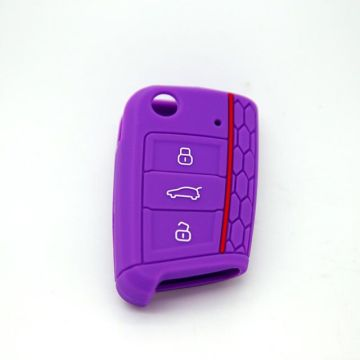 New Fashion Design for for VW Silicone Key Fob Cover hot sale holder for key for vw export to Portugal Manufacturer