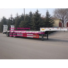 White color 3axles 12M3 lowbed trailer