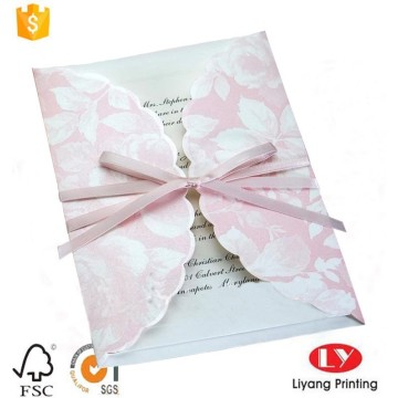 Luxury paper wedding invitation gift card printing