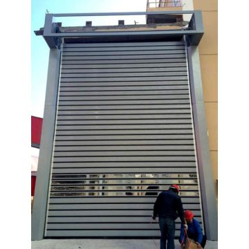 High speed spiral sectional door metal door