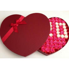 Love Heart Shape Flower Cardboard Packaging Box