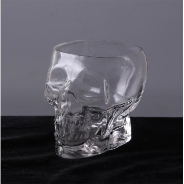 Heavy Base Skull Face Shot Glass Set