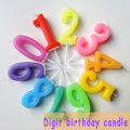 High quality color birthday number cake candle
