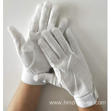 white uniform police band waiter worker cotton gloves