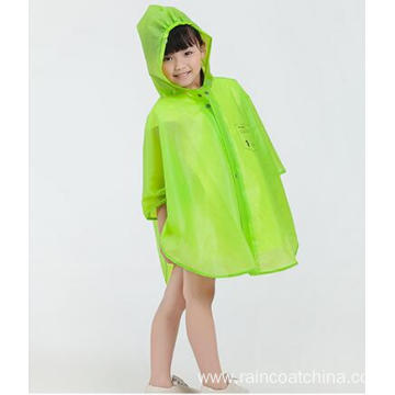Green Boys Rain Poncho