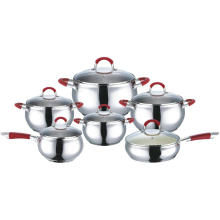 Cookware Set with Silicone Heat Resistant Handles